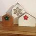 Christmas Rimu wood house shelf decoration
