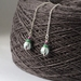 NZ Snowberry (karopuka) earrings, individually enamelled sterling silver flower earrings with glass beads