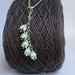 Lily of the valley flower necklace, individually enamelled sterling silver flower necklace with glass beads