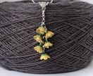 Buttercup flower pendant, individually enamelled sterling silver flower pendant with glass beads