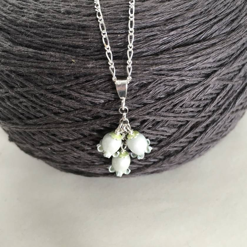 NZ jasmine, kaihua flower pendant, individually enamelled sterling silver flower necklace