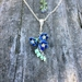 Forget me not flower cluster necklace, individually enamelled sterling silver flower necklace