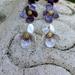 White sweet violet studs, individually cut, shaped & enamelled fine silver flower earrings