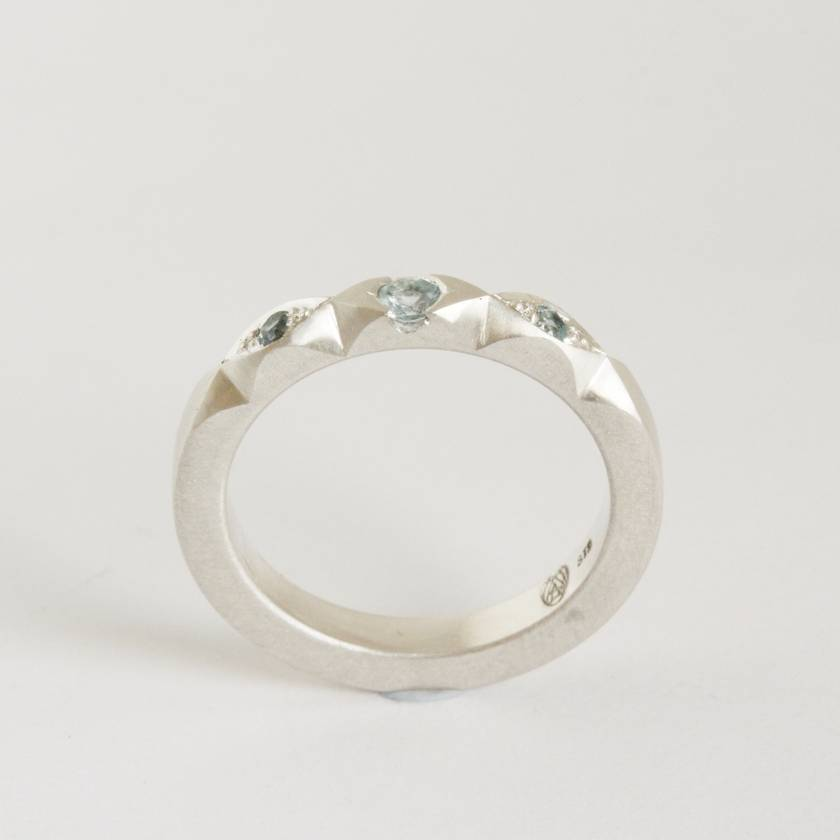 Topaz Whale ring, hand set