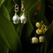 Lily of the valley earrings, individually shaped and enamelled sterling silver flower earrings