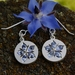 Ceylon sapphire starflower borage earrings