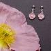 Pink Iceland Poppy earrings