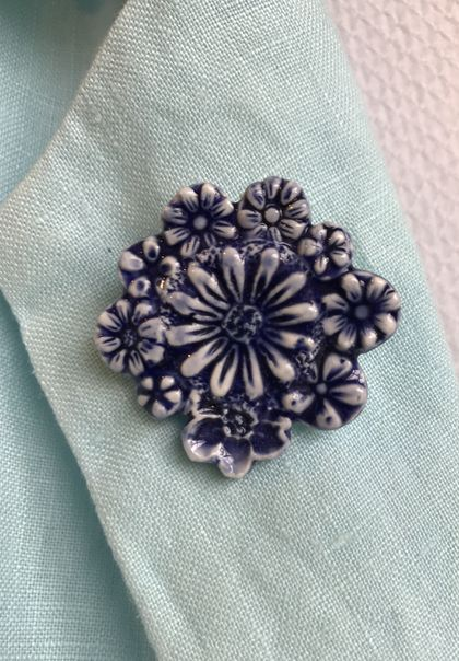 Ceramic floral Brooch