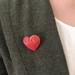 Sculptured Heart Brooch/Pin