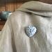 Floral Heart Ceramic Brooch