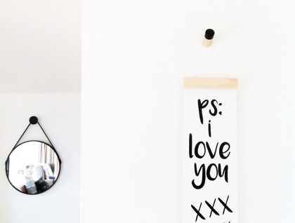 PS I love you - skinny print & hanger