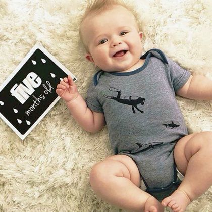 Monochrome Baby Milestone Photo Cards