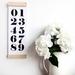 Numbers - skinny print & hanger