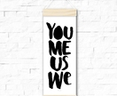 You me us we - skinny print & hanger