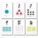 Shape and colour flash card packs