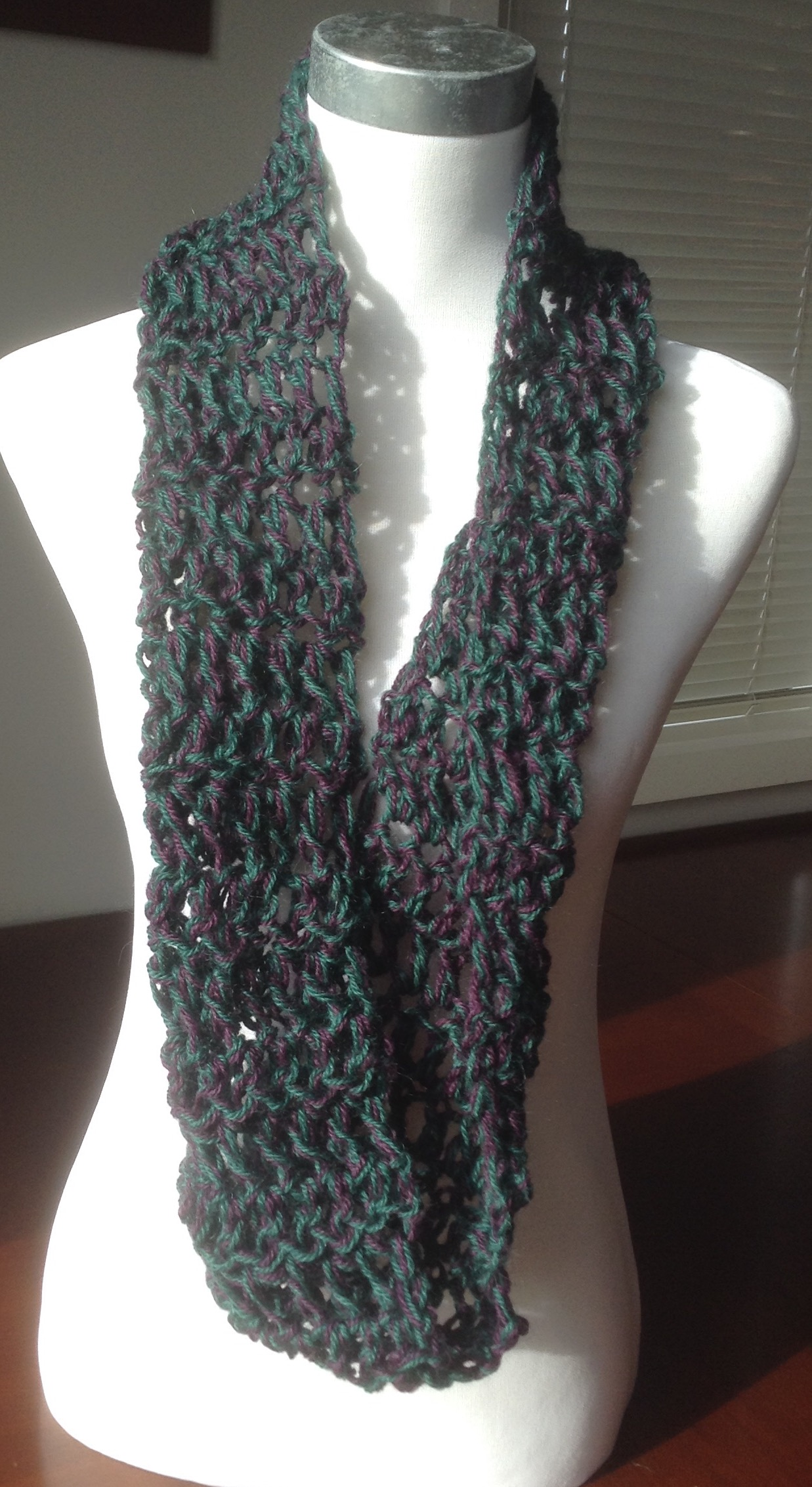 Cowl / Infinity Scarf / Snood - Finger Crochet with Pure ...