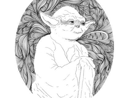 Star Wars Print - yoda
