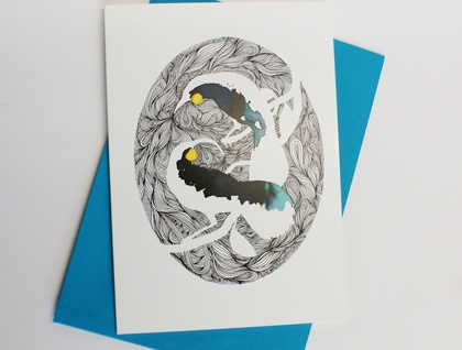 Huia greeting card