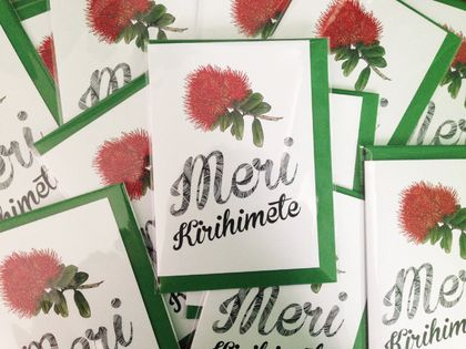 20 x Merry Christmas or Mere Kirihimete greeting cards