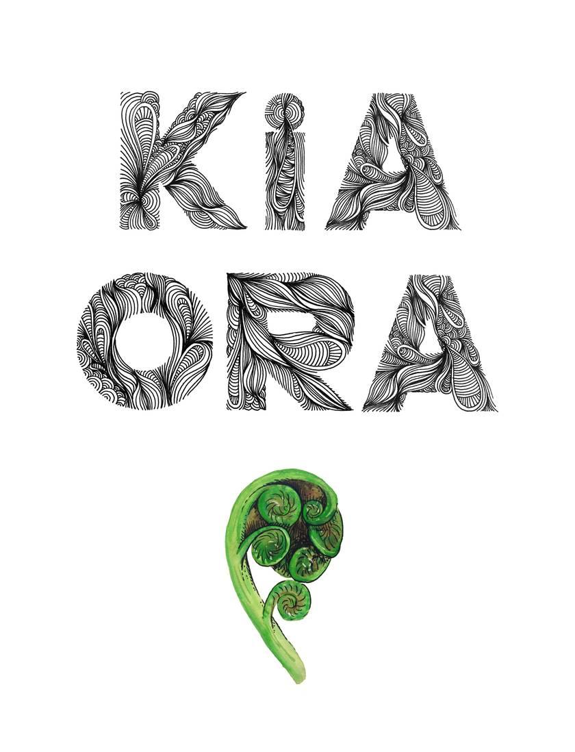 Kia Ora greeting card