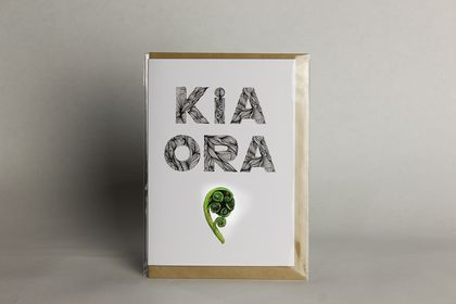 Kia Ora greeting card