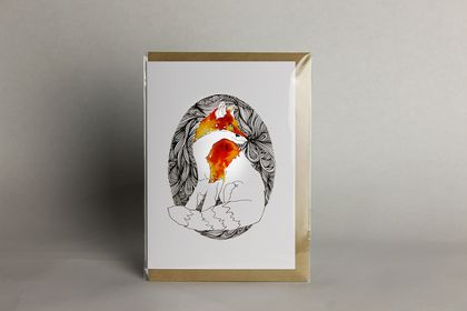 Fox greeting card