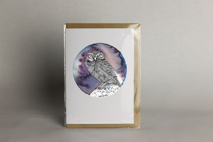 Ruru greeting card (Pack of 3)