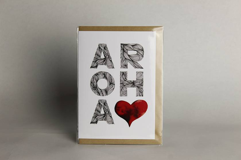 Aroha greeting card