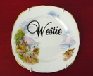 Westie small seaside plate