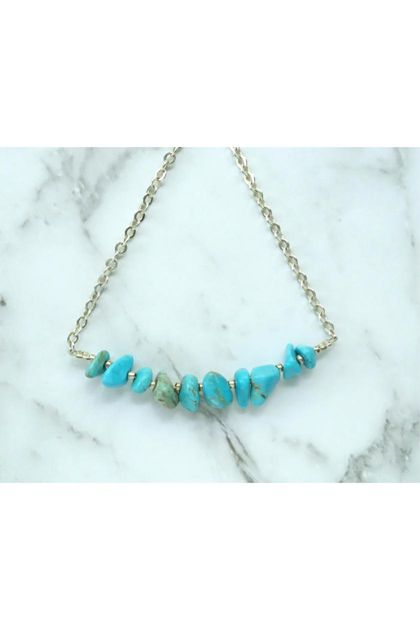 Turquoise Mini Gems necklace