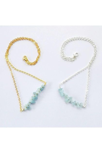 Aquamarine Mini Gems necklace