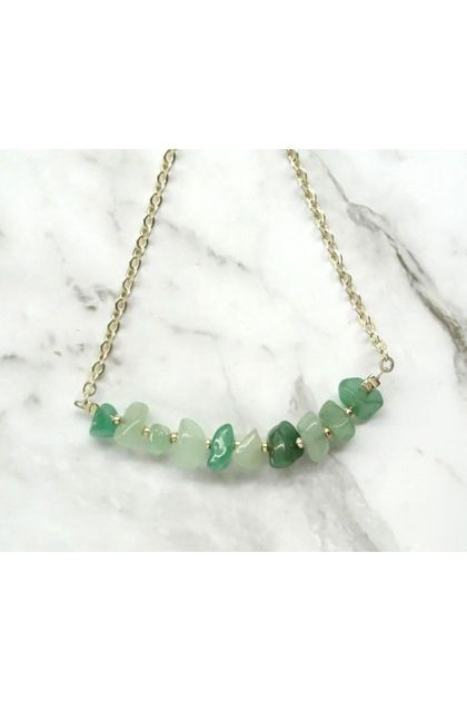 Aventurine Mini Gems necklace