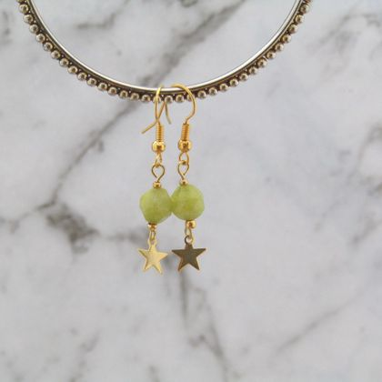 'Olive' Astra earrings in Jewellery bottle