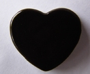 Ceramic Brooch Black Heart