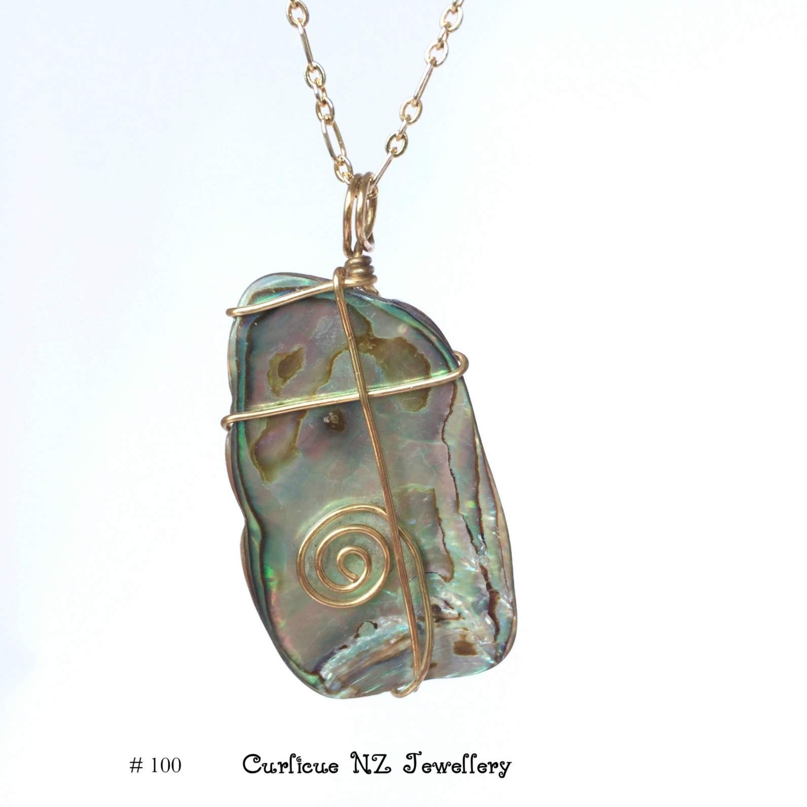 pendant samuel mosaic blue sterling in with b gemstone topaz shell ddc silver necklace paua