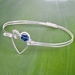 Love Heart Koru Bangle with Swarovski Crystal in Eco Sterling Silver