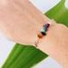 Rainbow Semi-Precious Gemstone & Silver Bracelet