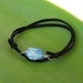 Mens Adjustable Blue Agate Bracelet
