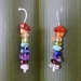 Rainbow Drop Earrings with Semiprecious Stones in Eco Sterling Silver