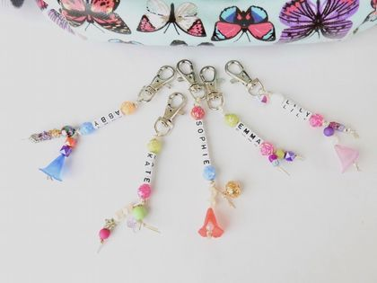 Kids Customisable Bag Charms or Key Rings
