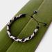 Ladies 3 Tone Adjustable Braided Suede Bracelet