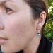 Christmas Bauble Earrings - Turquoise Swarovski Pearls