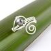 Adjustable Pearl Koru/ Spiral Ring
