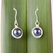 Black Freshwater Pearl Earrings wrapped in Eco Silver
