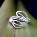 2 Leaves Adjustable Ring