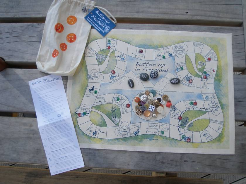 Board Game in a Bag -  Button Up in Fiordland