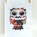 Owl - in the flower garden