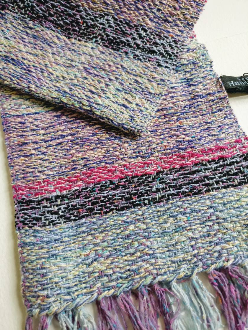 Hand woven Silk and Cotton Scarf