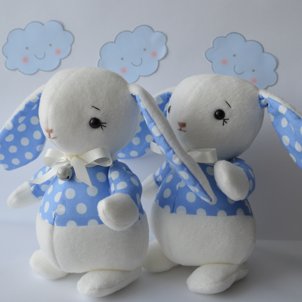 Soft Toy Patterns : Pdf sewing pattern soft toy rabbit felt