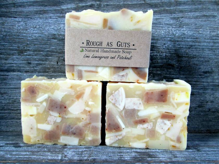 'Rough as Guts' - Lime Lemongrass and Patchouli Soap